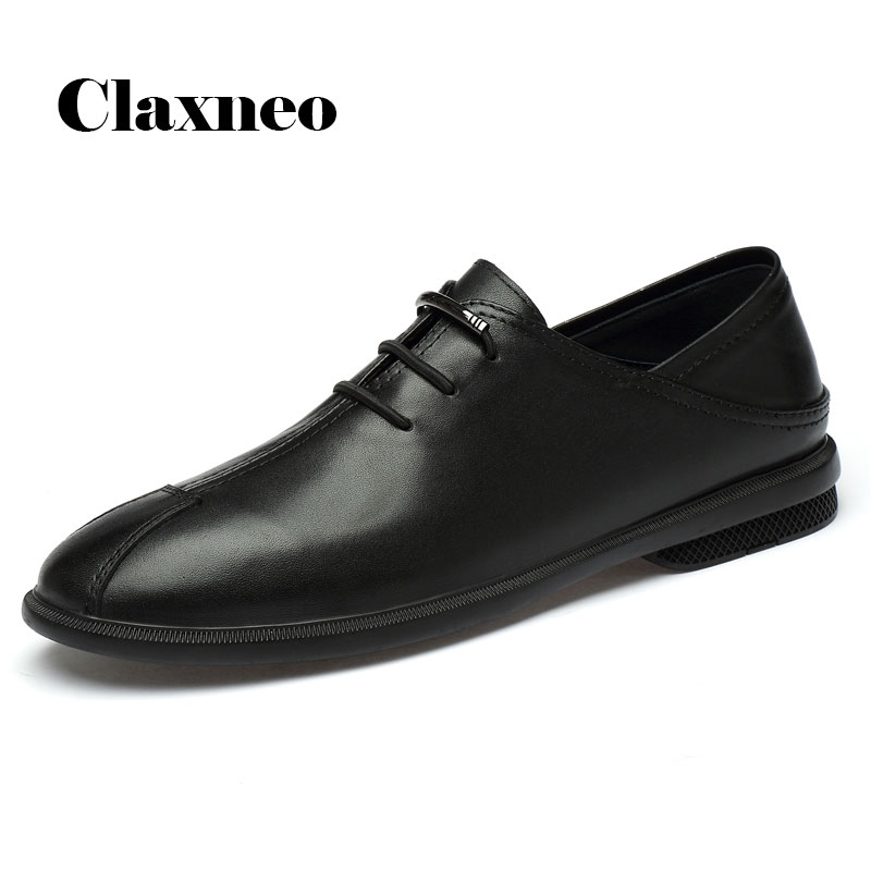 CLAXNEO Man Leather Shoes Fashion 2020 Spring Summer Male Loafers Design Clax Men's Casual Shoe Genuine Leather Flats