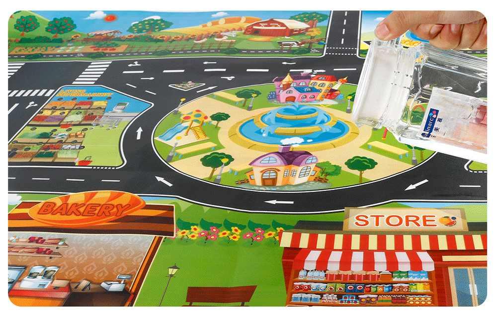子供 diy 駐車場マップ敷物おもちゃベビー登山演奏マットキッズおもちゃ市駐車場ロードマップマップ子供再生マット