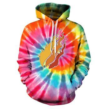 2020New Funny Three fires 3D Print Color Tide brand S weatshirt Hoodies Unisex Sweatshirt Hip-hop Fashion Streetwear Hoodies 1