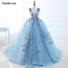 Smileven сказочные небесно голубые официальные платья с романтическими