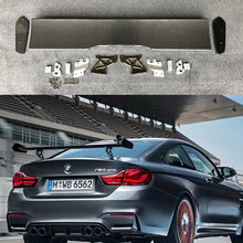 купить F82 M4 GTS style carbon fiber rear wing car trunk lip auto boot wing spoiler for BMW F82 car styling car accessories дешево