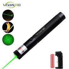 Alta potência verde yl 303 ponteiro laser 532nm ponteiro lazer verde caneta luz queima de feixe fósforo para 18650 bateria
