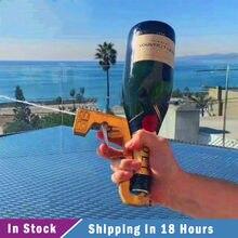 Champanhe vinho pulverizador champanhe esguicho arma atirar 30 pés de distância vinho mágico decanter cozinha de segunda geração barra de festa ferramentas d13