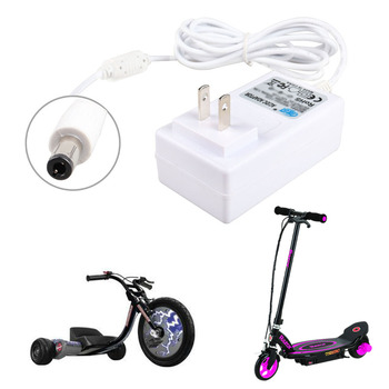 Adaptador del cargador de batería del Scooter Eléctrico de la rueda del Balance inteligente de 12V para el núcleo de la maquinilla de afeitar E90, máquina eléctrica del Grito, EPunk... XLR8R