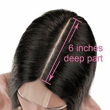MQYQ Human Hair Closure Brazilian Straight Closure 2x6 Lace Closure 100% Human Hair Bleached Knots With Baby Hair Non Remy