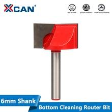 XCAN 1 adet 28mm ahşap düzeltici alt temizleme gravür alet uçları 6mm Shank CNC freze kesicisi ahşap yönlendirici Bit