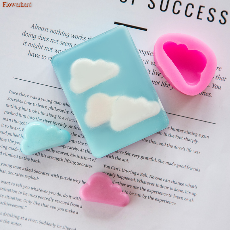 3d Silicone Cloud Mould DIY Soap Silicone Mould Chocolate Mould Cookie Stencil Soap Making Supplies Cake Decor Pastry Mold