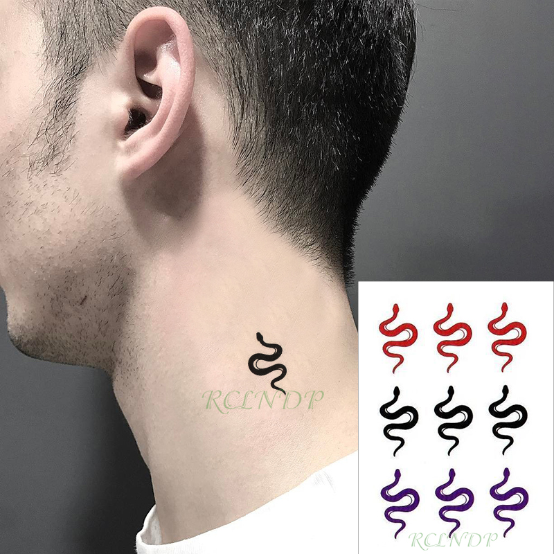 Waterproof Temporary Tattoo Sticker Snake Animal Three Colours Fake Tatto Flash Tatoo  Hand Leg Arm Back For Kid Men Women Child