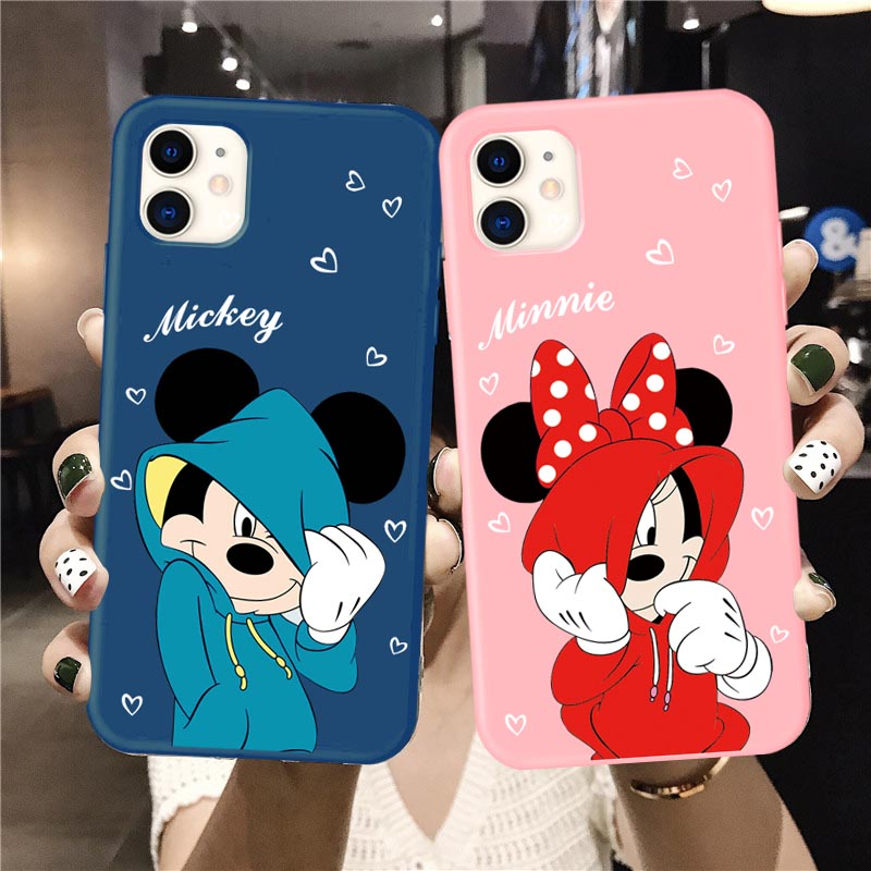 Lovers Shy Mouse Soft TPU Cases For IPhone 6S 8 7 Plus 11 Pro Max Matte Back For IPhone X XS Max XR Cartoon Phone Capa Coque