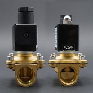 """Image 5 - الملف اللولبي صمام المياه عادة إغلاق صمامات النحاس 220V12V24V الهواء صمام الملف اللولبي الغاز المياه 1/4 """"3/8"""" 1/2 """"3/4"""" 1 """"2"""""""