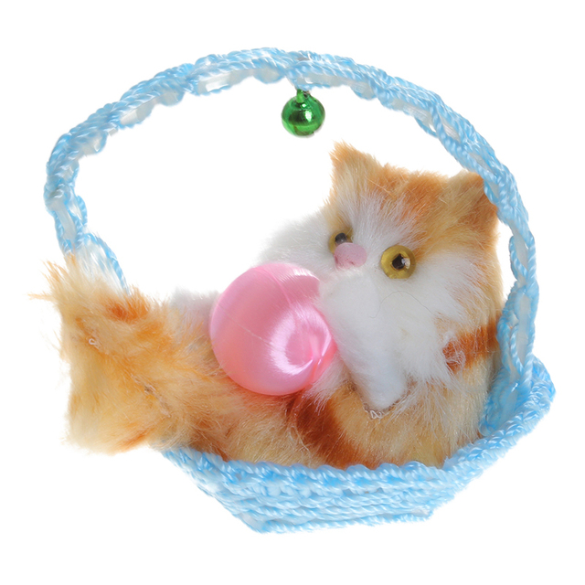 2020  Multi Style Cute Collectible Classic Plush Animal Toy With Basket Simulation Exquisite Craft Toys