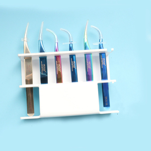 Image 5 - 6 Slots Eyelash Tweezers Sort Storage Stand Acrylic Display Shelf 3 Colors Optional Makeup Supplies