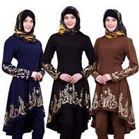 Cothes Muslim Abaya Women Muslim Kaftan Dress Loose Printed Abaya Islamic Turkish Long Dresses Casual Women Muslimah Abaya Dubai