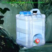15l grau alimentício com torneira recipiente de acampamento ao ar livre armazenamento reutilizável piquenique portátil com tampa casa balde água potável