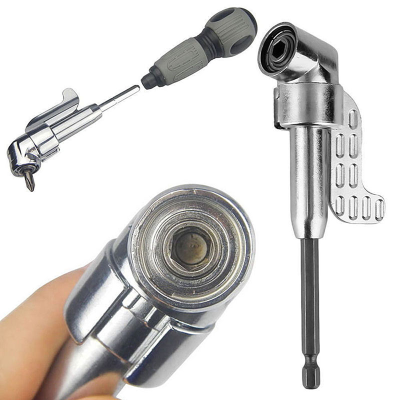 Multifunction Practical 105 Degree Angle Screwdriver Extension Right Driver Hex Drill Bit Screw Tool Accessory