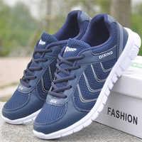 Men Shoes Krasovki White Sneakers Autumn Men Casual Shoes New Air Mesh Men Tennis Flats Trainers Basket Homme Plus Size