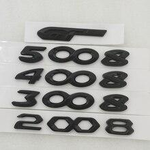 4008 5008 3008 2008 hinten Trunk Aufkleber Für Peugeot 3008 5008 308 208 508 2008 4008 GT LINIE PEUGEOT Haube aufkleber Schwarz