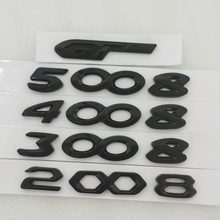 4008, 5008, 3008, 2008 pegatina para maletero para Peugeot 3008, 5008, 308, 208, 508, 2008, 4008 GT línea PEUGEOT Hood etiqueta negro