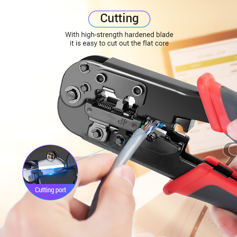 Vention RJ45 Crimping Tool RJ45 Network Cutting Tools 8P RJ45 Crimper Cutter Stripper Plier for Modular RJ12 RJ11 Crimp Crimper 5