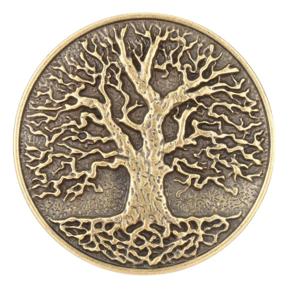 Golden Retro Tree Pattern Belt Buckle Western Denim Men's Jeans Accessories
