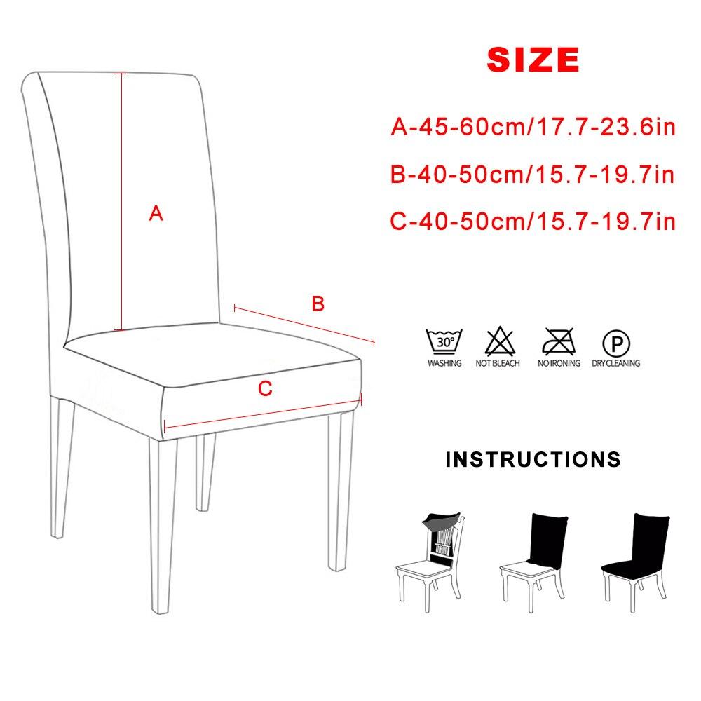 1/2/4/6 шт. чехлы для стульев гибкий стрейч спандекс чехлы для стульев для свадьбы Вечерние эластичные Multiful обеденный стул чехлы для домашнего ...