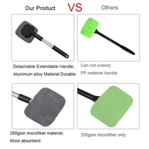 Image 5 - 5Pcs Car Window Cleaner Brush Microfiber Windshield Cleaning Tool With Extendable Handle For Auto Exterior Interior Glass Wiper