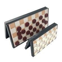 Высокое качество международные шашки Портативный набор пластиковых шахмат 20/29 см складной шахматная доска магнитная Шахматная ребенка доска с подарками игра