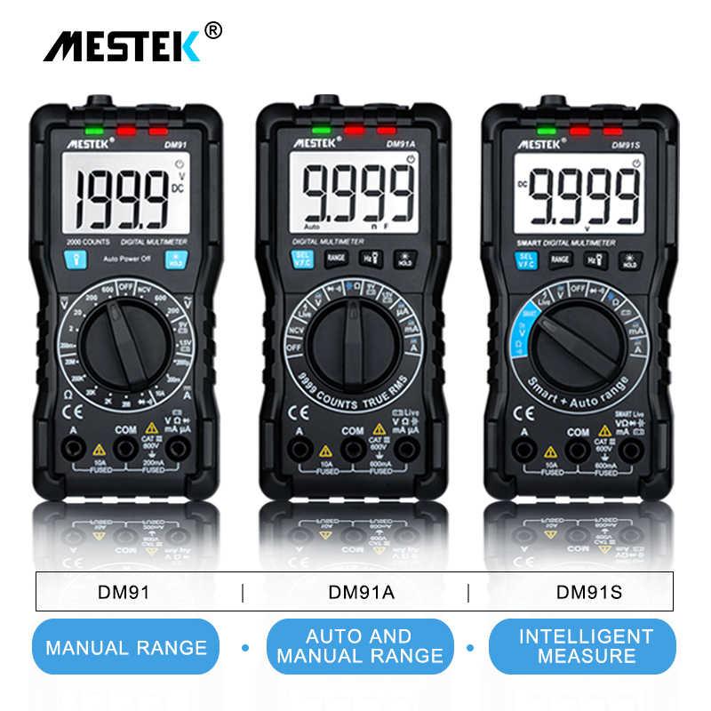 Mestek DM91A Mini Multimeter Digitale Multimeter 9999 Telt Auto Range Voltage Ammeter Meter Multimetre Multi Meter Multitester