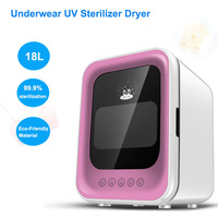 18L Double UV Lamp Underwear Disinfection Storage Cabinet UV Sterilizer Dryer For Woman And Baby Clothes With 3layer Shelf