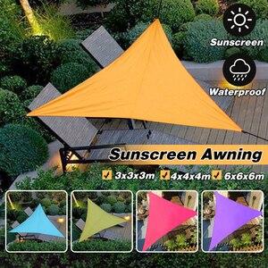 Image 2 - Outdoor Sun Shelter Wasserdicht Dreieck Sonnenschirm Schutz Baldachin Garten Terrasse Pool Sonnensegel Markise Camping Picknick Zelt Große