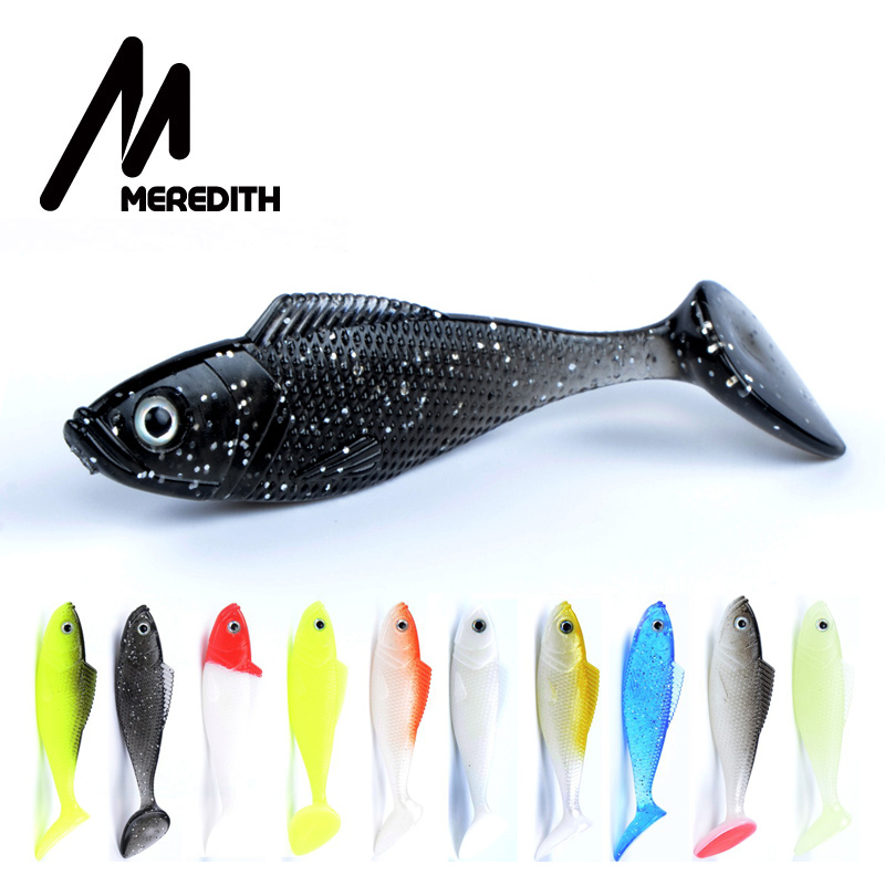 MEREDITH Trout 10pcs/lot Fishing Baits 10 Colors Fishing Soft Lures Mermaid Tail 90mm/9g Artificial Lures Free Shipping