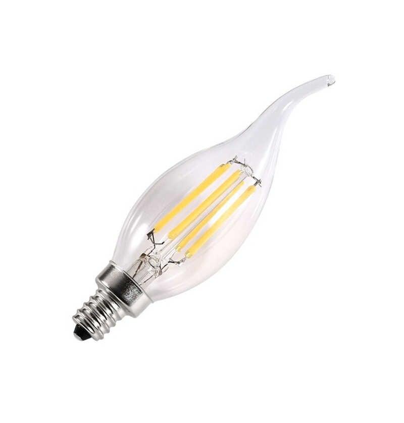 E14 Светодиодный светильник 2 Вт, 4 Вт, 6 Вт, 8 Вт, 12 Вт, светодиодный светильник в форме свечи, AC 220 В, 240 в, C35, C35L, винтажный Светодиодный светильник накаливания Эдисона для люстры, светильник ing