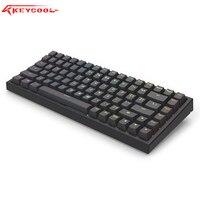 Keycool kc84 bluetooth 5.0 preto rgb  jogo mecânico teclado  84 teclas  mini layout  hotswaple switch  teclado portátil