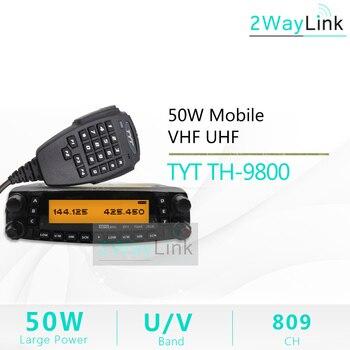 TYT TH-9800 plus Pro 50W mobilny VHF UHF czterozakresowy radioodtwarzacz samochodowy krótkofalówka krótkofalówka 50km nadajnik-odbiornik Ver 1901A