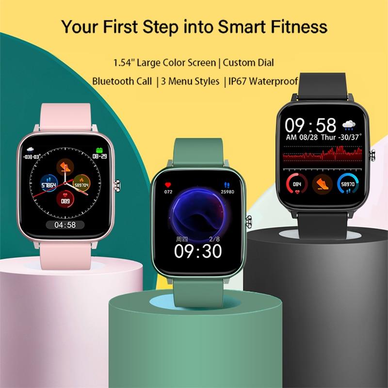 2021 Smart Watch donna uomo cardiofrequenzimetro Fitness Tracker orologio da polso chiamata Bluetooth Smartwatch sportivo impermeabile per Android IOS 2