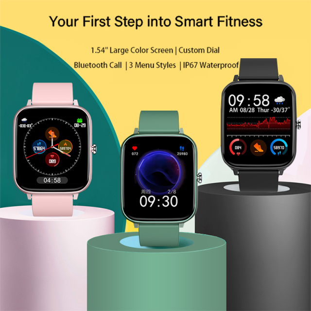 2021 Smart Watch Women Men Heart Rate Fitness Tracker Bracelet Watch Bluetooth Call Waterproof Sport Smartwatch For Android IOS 2