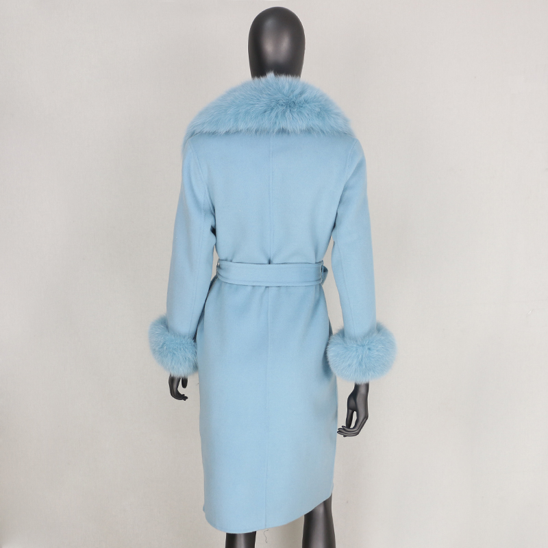 H734f3b96f8bf40f6ac7ab28f50532dc9F 2021X-Long Natural Mongolia Sheep Real Fur Coat Autumn Winter Jacket Women Double Breasted Belt Wool Blends Overcoat Streetwea