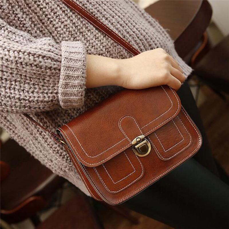 6 Colours Women Bag Ladies Retro Shoulder Bag Messenger Bag Mobile Phone Small Bag