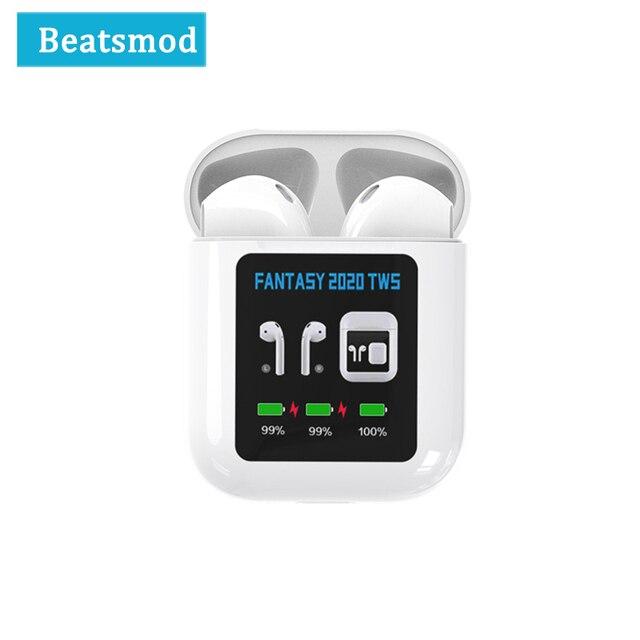Bluetooth 5 0 Earphone FANTASY TWS 1 3 Inch LCD Display True Wireless Mini IPX4 waterproof Bluetooth Earbuds For Sport