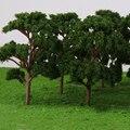 10 Teile/paket 12cm Kunststoff Banyan Bäume Modell Zug Landschaft für Park Garten Wald Szene Landschaft Kinder Spielzeug Skala 1:75 grün