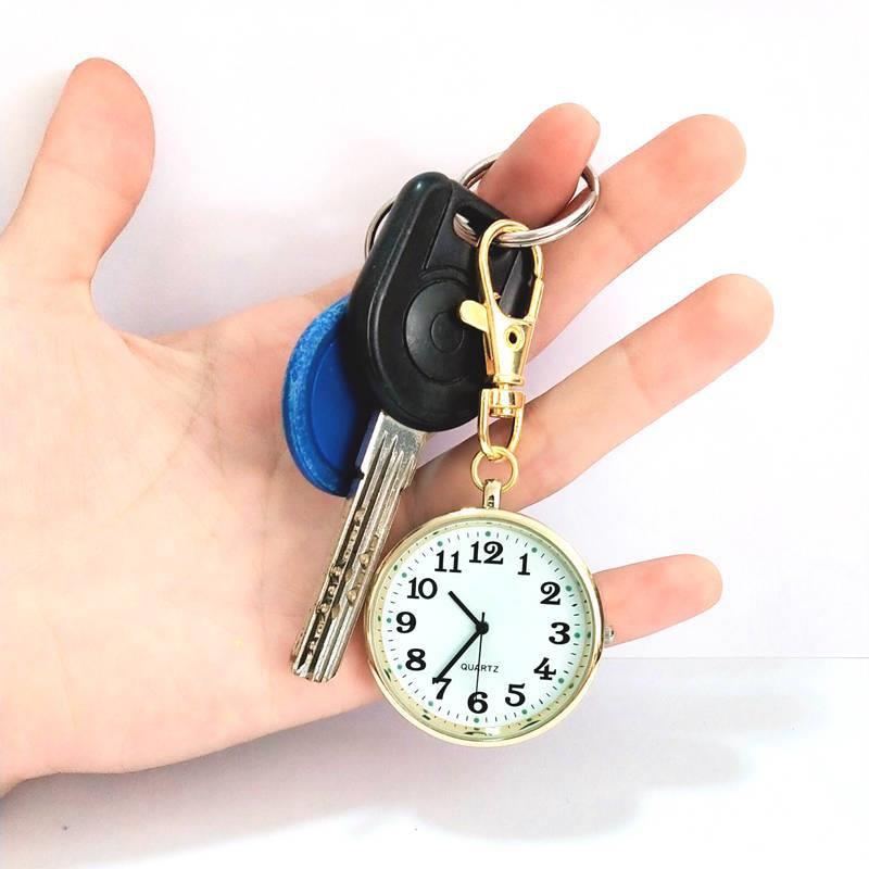 Quartz Pocket Watch Keychain Clocks Round Dial Portable Simple Pendant For Women Men World Of Warcraft Fallout Hh88