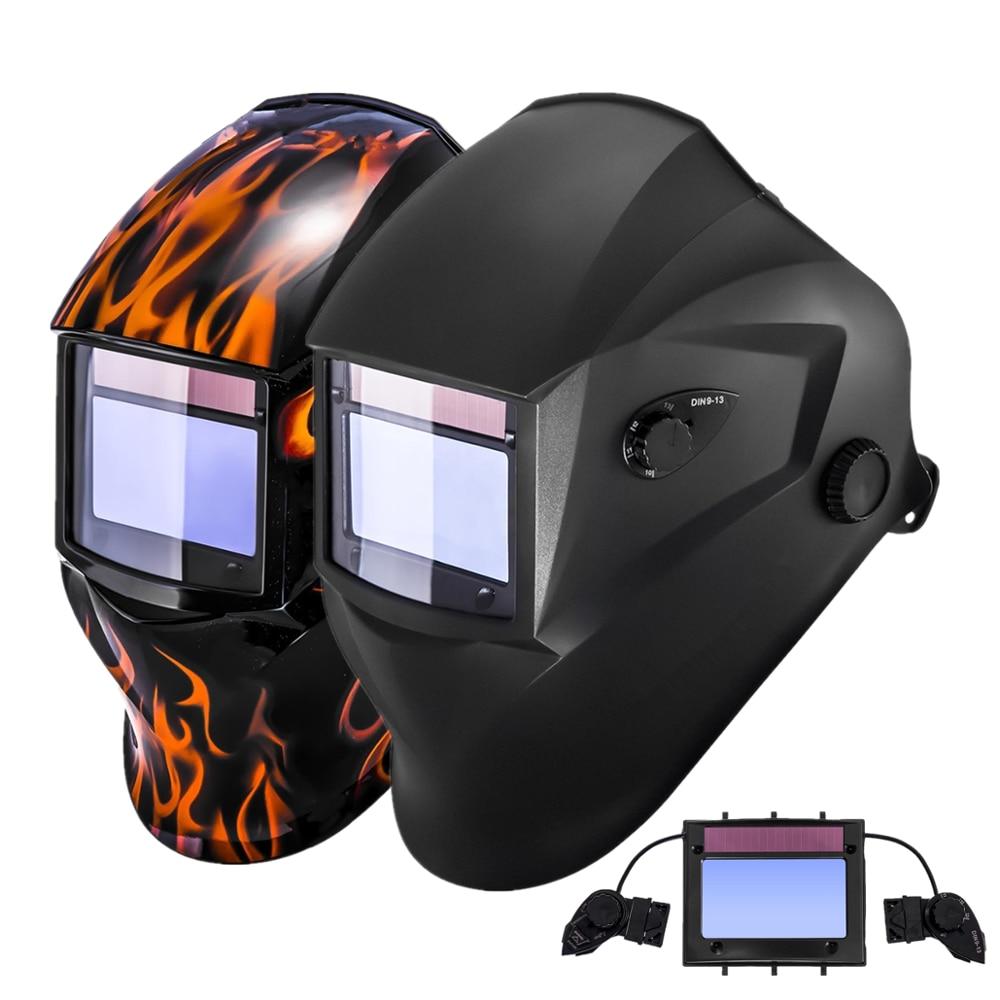 Welding Helmet 98x55mm 4 Sensors 1211 Optical Class CE Solar Auto Darkening Personal Protective Eye Safety Welder Mask