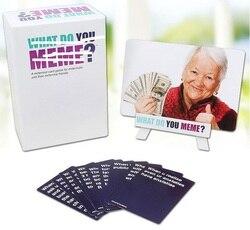 Xadrez e brinquedos de cartão o que você meme 1 geração 2 geração 3 geração prolongado cartão de jogo de tabuleiro interativo