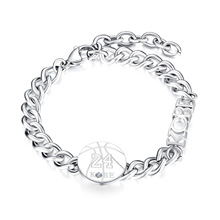 New Fashion Memorial Kobe 24 Bryant Bracelet for Men Boy Stainless Steel Wristband Basketball Lover Fan Jewelry Gifts