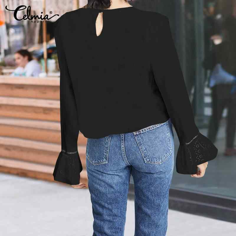Модные женские белые блузки с рюшами и вышивкой, 2019 стильные Яркие Рубашки с рукавами, повседневные свободные блузы, большие размеры