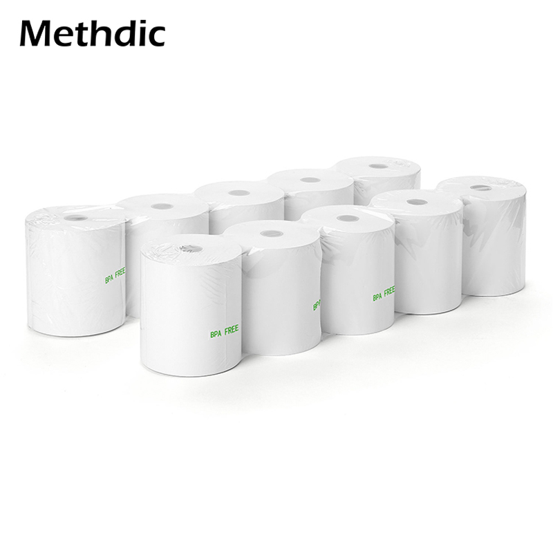 Methdic 20rolls/Box 80X80mm Thermal Paper Till Roll Thermal For Cash Register Paper