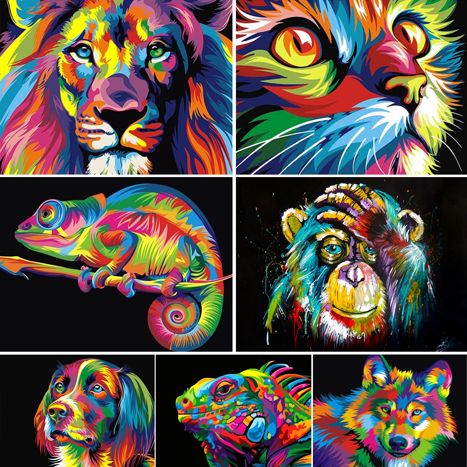 5D Ever Moment Diamond Painting Animal Lion Cat