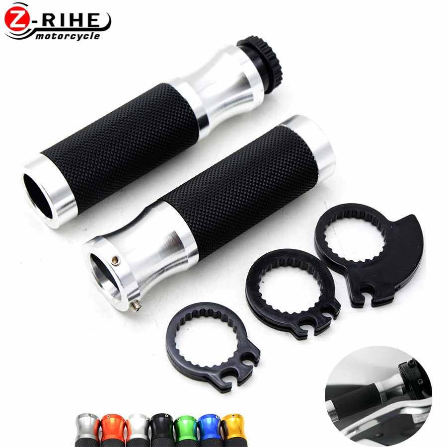 Universal Bike Motorcycle Bike Handlebar Grips Throttle Grip 7//8 22mm Twin Cable