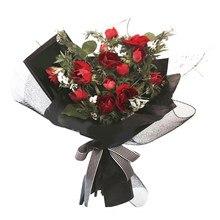 韓国スタイルグリッドの花の包装紙固体ハンドメイド花包装ガーゼファッションクリエイティブギフト包装フローラルブーケ
