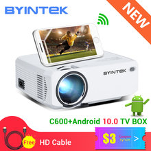 Byintek C600 Mini 150Inch Draagbare Led Projector Projetor Voor 1080P 3D 4K Cinema Voorraad In Brazilië (optioneel Android 10 Tv Box)(China)